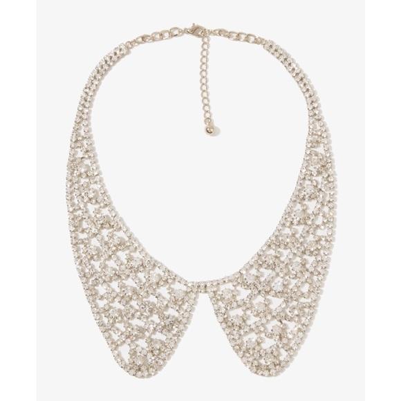 Modeschmuck Topshop Beautiful Bead Rhinestone Collar Necklace New